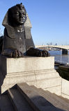 Sphinx on London Embankment Royalty Free Stock Photography