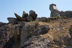 The Sphinx from Macin mountain in Macin natural park. The sphinx from Macin mountains in Macin natural park in Dobrogea Romania eastern Europe. The hercinian Royalty Free Stock Image