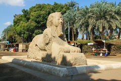 Sphinx of Memphis. Alabaster the Sphinx is a stone sphinx of Memphis, Egypt Stock Photo