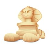 Sphinx Model. Illustration of sphinx model on white background Stock Images