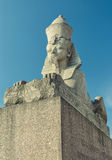The Sphinx monument at the University embankment Royalty Free Stock Images