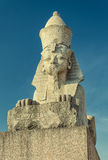 The Sphinx monument at the University embankment. Stock Photos