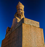 The Sphinx monument at the University embankment Royalty Free Stock Photos