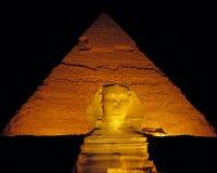 Sphinx-Nacht Stockbild
