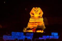 Sphinx nachts Lizenzfreie Stockbilder