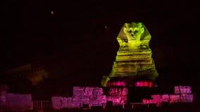 Sphinx nachts Stockfoto