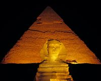 Sphinx Night Stock Image