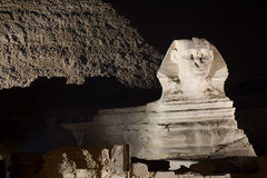 Sphinx by Night - Giza Plateau Stock Photos