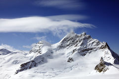 Sphinx observation and Jungfrau Royalty Free Stock Photos