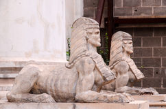 Sphinx of the Old Masonry Temple in Tenerife Stock Images