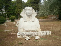 Sphinx. In an olive grove. Zadar Royalty Free Stock Photo