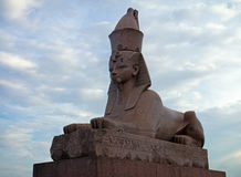 Sphinx. One of two ancient Egyptian sphinxes in St. Petersburg Stock Images
