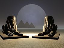 Sphinx Pair stock photos