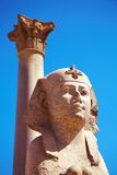 Sphinx and Pompey's Pillar, Alexandria, Egypt Stock Photography