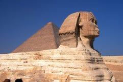 Sphinx & Pyramid Royalty Free Stock Photos