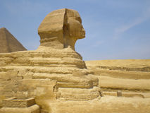Sphinx. And pyramid Cairo, Egypt Royalty Free Stock Images