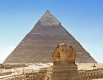 Sphinx and Pyramid, Egypt Royalty Free Stock Photos
