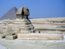 Sphinx and Pyramid Egypt. The Great Sphinx and Pyramid at Giza, Egypt Stock Photography