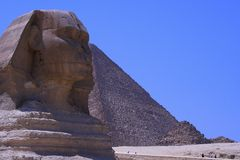 sphinx & Pyramid of egypt. Great sphinx & Pyramids in Giza - egypt Royalty Free Stock Photo
