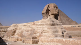 Sphinx and Pyramid. Egypt Stock Image