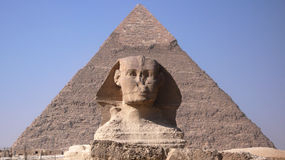 Sphinx and Pyramid. Egypt Stock Images
