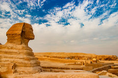 Sphinx Pyramid Egypt. Sphinx View in Giza, Egypt, Africa Stock Images