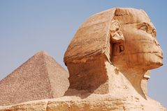The Sphinx and pyramid royalty free stock images