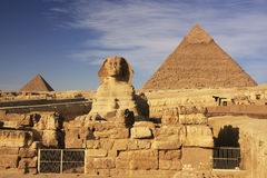 The Sphinx and Pyramid of Khafre, Cairo Stock Images