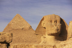 The Sphinx and Pyramid of Khafre, Cairo Royalty Free Stock Image