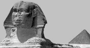The Sphinx and Pyramid of Khufu in Giza, Egypt Stock Images