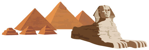 Sphinx and the Pyramids Royalty Free Stock Photo