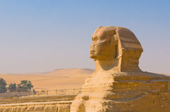 Sphinx and pyramids at Giza, Cairo Royalty Free Stock Photos