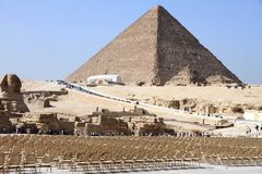 Sphinx Pyramids Giza Egypt Stock Photo