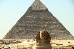 Sphinx Pyramids Giza Egypt Stock Photos