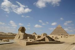 Sphinx caro egypt. Sphinx at the pyramids of giza egypt Stock Image