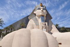Sphinx replica. Replica of Great Sphinx in front of Luxor Hotel in Las Vegas, Nevada, USA Stock Images