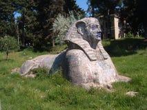Sphinx replica with graffiti makeup Stock Photo