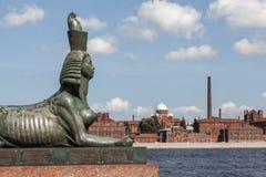 Sphinx on Robespierre. St. Petersburg. Stock Photo