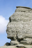 The Sphinx. Rock formation of Sphinx, a major landmark in Bucegi mountains, Romania Stock Photography