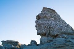 The Sphinx Rock, Bucegi mountains, Romania. stock image