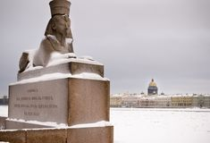 Sphinx in Saint-Petersburg Royalty Free Stock Photo