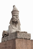 Sphinx in Saint Petersburg isolated on white background Stock Photos