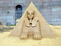 Sphinx. Sand sculpture Royalty Free Stock Photos