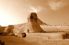 Sphinx schaut zum Osten stock abbildung