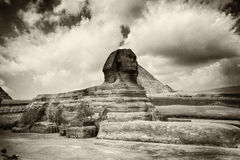 The Sphinx sepia toned Stock Photo