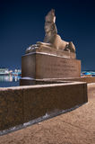 Sphinx in St. Petersburg. Egyptian Sphinx on quay of St. Petersburg, Russia Stock Images