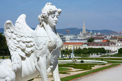 Belvedere garden in Vienna, Austria Stock Photo