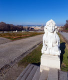 Sphinx statue in the Belvedere Garden, Vienna, Austria. Royalty Free Stock Image