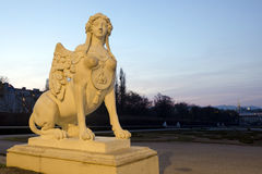 Sphinx statue in the Belvedere Garden, Vienna Stock Image