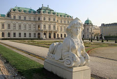 Sphinx statue in Belvedere Palace Garden in VIENNA, AUSTRIA Royalty Free Stock Photography